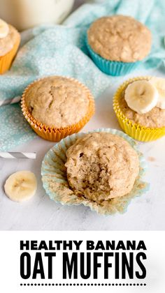Heathy Banana Hafer Muffins - The Trophy WifeStyle food clean eating food healthy food ideas food photography food plan food recipes Oat Muffins Healthy, Banana Bread Muffins, Banana Oat Cookies, Muffin Recipes, Baby Food Recipes, Cod Recipes, Lentil Recipes, Cookie Recipes, Icing Recipes