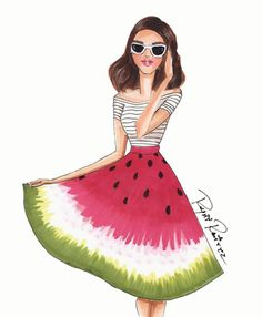 S U M M E R #FashionIllustrations @reyniramirezillustrations| Be Inspirational ❥|Mz. Manerz: Being well dressed is a beautiful form of confidence, happiness & politeness
