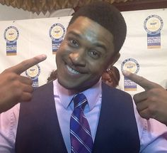 Loop On Location: 2013 NAACP Awards-How can you not love this smile? Pooch Hall hamming it up for the Loop21 team | Loop 21