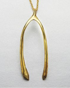 Verameat Wishbone Necklace-in-Gold//LOVE THEIR PIECES, HAVE A FEW.