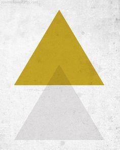 Triangles - 8 x 10 Print