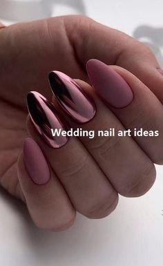 39 Hottest Awesome Summer Nail Design Ideas for 2019 Part 27 - Summer Nails - Nagellack Cute Acrylic Nails, Matte Nails, Acrylic Nail Designs, Pink Nails, Nail Art Designs, Nails Design, Metallic Nails, Acrylic Summer Nails Almond, Acrylic Summer Nails Beach