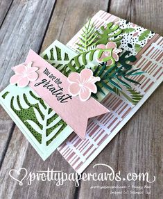 Stampin' Up! Tropical Step Card - Prettypapercards - stampinup