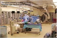 Hybrid lab at University Hospitals Case Medical Center. From: An interview with Costa M. The heart in 3-D: a transcatheter aortic valve implantation (TAVI) program. Cath Lab Digest Nov 2011;19(11):1-18.