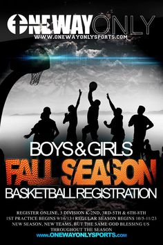 Fresh new flyer design for youth co-Ed basketball league!