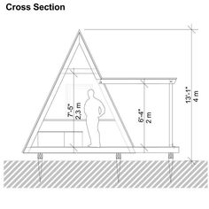 Building Costs, Building A Tiny House, Tiny House Cabin, Cabin Design, Tiny House Design, A Frame House Kits, Blueprint Construction, A Frame Cabin Plans, Classic House Exterior
