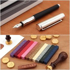 Classy Waldmann Solon fountain pens and J. Herb in Supple Wax for seals coming this week! #comingsoon