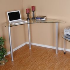 Found it at Wayfair - Barton Writing Desk with Glass Top