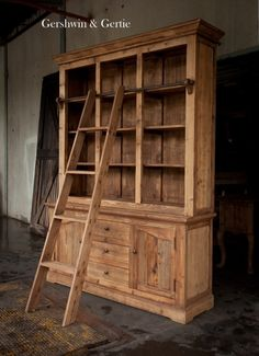 Gershwin's Study Hutch: Ladder Included, Reclaimed Old Pine Wood