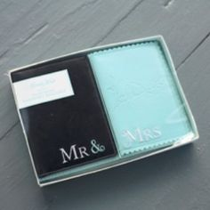 """Mr. and Mrs. Passport Holder Set - """"Love is in the Air"""" with Love Birds imprint. I have those, they are super cute"""