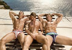 Dmitry Strigun, Bruno Rodriguez and Adam Fletcher • Male Models