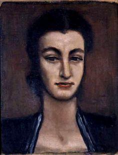 Jerzy Nowosielski   Portrait of a Woman   oil on canvas