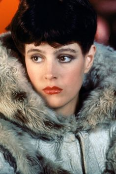 "Sean Young as ""Rachael"" in Ridley Scott's Blade Runner, The screenplay is written by Hampton Fancher and David Peoples, and it is a modified film adaptation of the 1968 novel ""Do Androids Dream of Electric Sheep?"" by Philip K. Sean Young Blade Runner, Film Blade Runner, Blade Runner 2049, Rachel Blade Runner, Film Science Fiction, Fiction Movies, Sci Fi Movies, Indie Movies, Blade Runner Wallpaper"