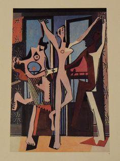 PABLO PICASSO DIE DREI TÄNZERINNEN  Kunstdruck Farbdruck Druck 1965 | eBay