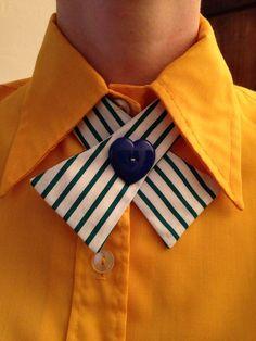 Handmade Vintage Fabric Lady Tie / Continental Neck Tie on Etsy