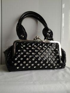 Black Patent With Diamanté Handbag Charity Ebay Handbags Purses