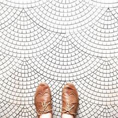 scallop mosaic floor