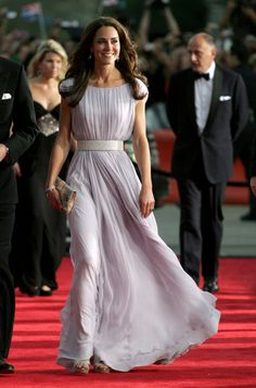 Kate Middleton in Sarah Burton for Alexander McQueen in a pale lavender gown #SephoraColorWash