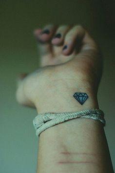 Diamond Tattoo - Wrist Tattoo