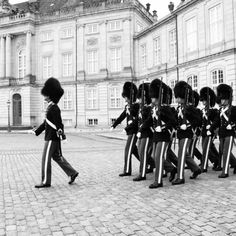 The Changing of the Guards.....its a` Danish Queens Guards;