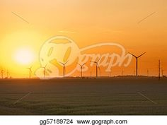 """""""Wind Farm Sunset"""" -Indiana Stock Photo from gograph.com"""