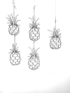 These mini pineapples were inspired by some baby organic pineapples I saw while shopping. This listing is for one of these pineapples.They