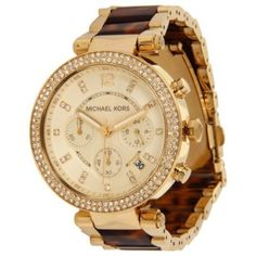 Relógio Michael Kors Watches Parker (Gold and Tortoise) #Relogio #MichaelKors