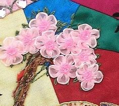 Wind from the East: Crazy Quilters Quilting Projects, Quilting Designs, Sewing Projects, Crazy Quilt Blocks, Crazy Quilting, Panda Quilt, Lace Beadwork, Crazy Patchwork, Embroidery Applique