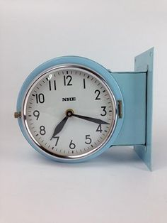 1385b92d2f6e Vintage Steel Ship's Double-Sided Clock – Original Blue £145.00 (ex VAT)