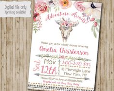 BABY Q Shower Invitation, BBQ Joint Baby Shower, Barbeque Baby Shower, DIY, Chalkboarrd, Retro, Typography - Digital Print File by SweetBeeDesignShoppe