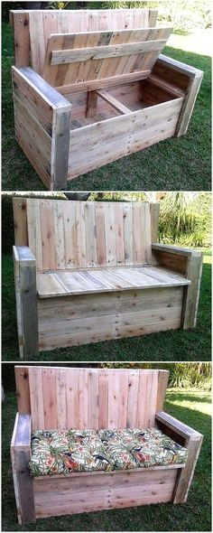 What an attractive and creativewood pallet chest bench is this, the entire creation of this chest bench is made with the help of reused wooden pallet stacks and boards.  #pallets #woodpallet #palletfurniture #palletproject #palletideas #recycle #recycledpallet #reclaimed #repurposed #reused #restore #upcycle #diy #palletart #pallet #recycling #upcycling #refurnish #recycled #woodwork #woodworking