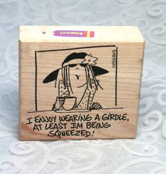 Rare Emerson Quillon Rubber Stamp, Squeezed stamp EM7082F, Humorous Phrase stamp, American Art, Funny Saying Stamp, Emerson Stamp, Girdle by MyCreativePossession on Etsy
