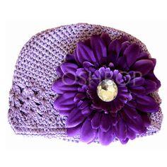 Baby Boutique Flower Hat - Newborn Baby Infant Girls Toddler (Purple) $6.50