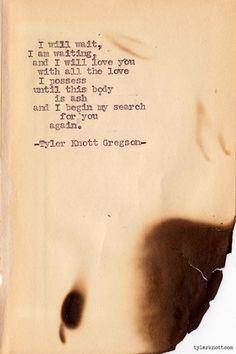 Typewriter Series by Tyler Knott Gregson
