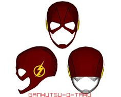 DC Comics - Life Size Flash Mask for Cosplay Ver.3 Free Papercraft Download