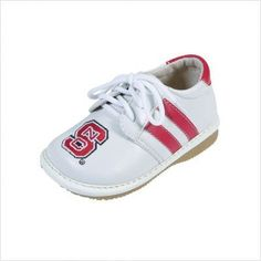 North Carolina State University Boys Size 5 by TQK. $29.99. Squeaky shoes are stylish and fun, and target little children approximately six months to three years of age. They are lined with soft leather and the shoes encourage children to walk. They are comfortable and flexible with non-skid soles. You can always hear where your child is, and the squeaker can be easily re-inserted by an adult. Squeaky shoes are a big hit with little fans everywhere!. Save 40% Off!
