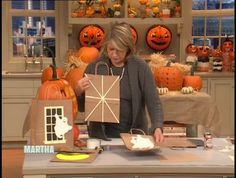 Martha Stewart shows how to make clever -- and safe -- trick-or-treat bags for Halloween using glow-in-the-dark decorations.
