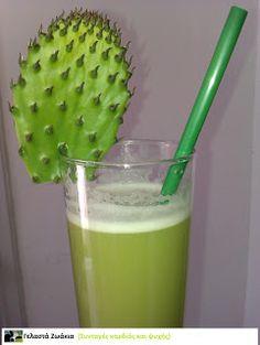 Χυμός απο κλαδόφυλλα φραγκοσυκιάς (Agua de nopal) Glass Of Milk, Drinks, Food, Water, Drinking, Beverages, Essen, Drink, Meals