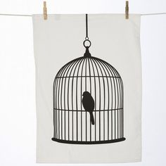 Birdcage Tea Towel by ferm living - Spark Living - online boutique for unique home decor, gifts and accessories