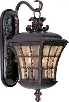 Maxim Lighting 30493ASOI 3 Light Orleans Outdoor Sconce, Oil by Maxim Lighting. $199.99. Finish:Oil Rubbed Bronze, Glass:Amber Seedy, Light Bulb:(3)60w B10 Cand F Incand  This 3 light outdoor wall lantern from the Orleans Collection features an Oil Rubbed Bronze finish and Amber Seedy glass.  .