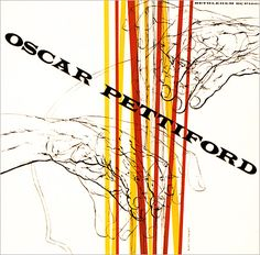 An Oscar Pettiford cover by Burt Goldblatt. Goldblatt isn't lauded enough. That man could draw, photograph and design his ass off. Click through for a nice gallery of his work from the folks at Birka Jazz (the last five on the page apparently aren't his).