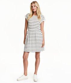 short-sleeved jersey dressl   H&M US