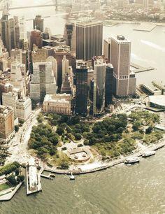 NYC. Battery Park / In dit park hebben Carolien, Sophie en ik (Erica) gerollerbladed, sweet memories!