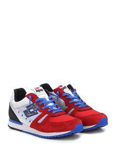 LOTTO LEGGENDA - Sneakers - Uomo - Sneaker in pelle, camoscio e tessuto con suola in gomma. Tacco 30, platform 20 con battuta 10. - GRIGIO\ROSSO