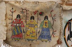 native american painted hides | Native American Décor and Regalia | Blue Creek Traders