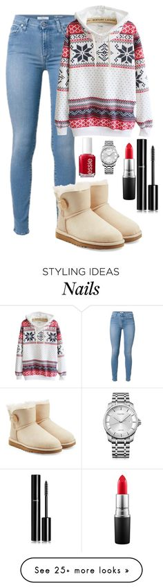 """""""Read d"""" by live-like-you-are-dying on Polyvore featuring UGG Australia, Chanel, MAC Cosmetics, Essie and Calvin Klein"""