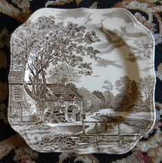 Johnson Brothers plate....love!