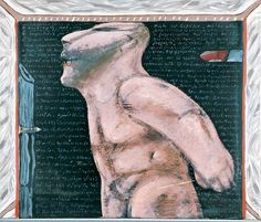 Νίκος Χουλιαράς-Ζωγραφισμένος σε κλειστό δωμάτιο John Cage, Art World, The Past, Statue, Greek, Artists, Figurative, Painting, 2d