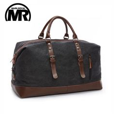 sale markroyal canvas leather men travel bags carry on luggage bags men duffel bags travel tote large #duffel #bag