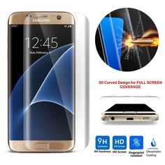 Tempered Glass 3D Curved Clear Premium Full Cover Screen Protector Film For Samsung Galaxy S7 Edge S6 Edge Plus